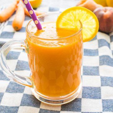 سموزي برتقال بالخوخ والجزر